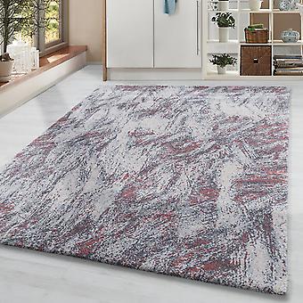 Pile corta soggiorno tappeto tappeto design tappeto vintage motivo sfocato crema grigia rosso