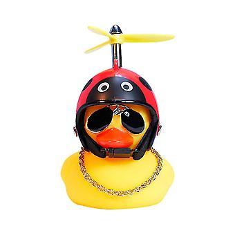 Beatle guma żółta kaczka zabawka deco chłodne okulary z śmigłem kask dt5706