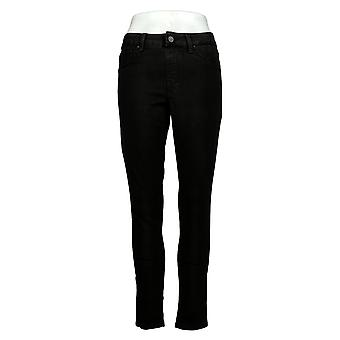 Laurie Felt Mujeres's Jeans Sedoso Denim Color Skinny Tobillo Negro A301508