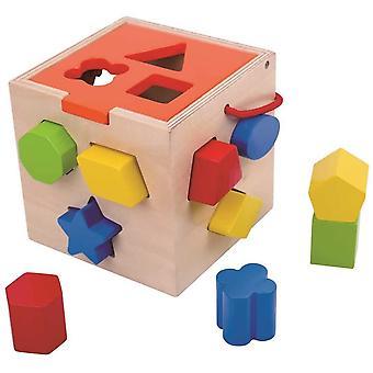 Juguete de actividad clasificador de forma de madera