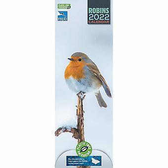 Otter House Rspb Robins (pfp) Slim Kalender 2022