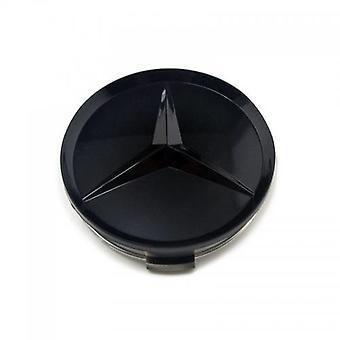 Mercedes Benz Wheel Center Caps 75mm Gloss Black 1PC