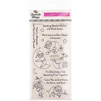 """Meine Lieblingsdinge Eindeutig sentimentale Briefmarken 4""""X8"""" - Schlummernde Faultiere"""