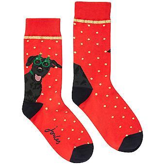 Joules Womens Christmas Contrasting Single Socks