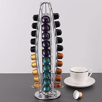 360 Capsule rotative Nespresso Porte-dosettes De café Support En acier inoxydable
