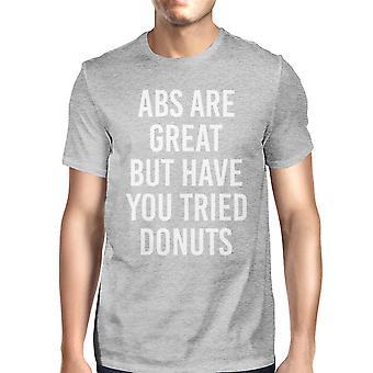 ABS er stor, men prøvede Donut mand Heather grå Top T-shirt