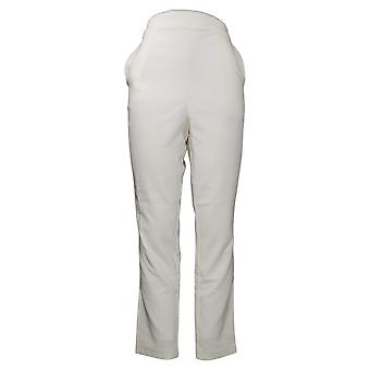 G By Giuliana Dames broek 12-uur stretch taps toelopende witte 681963