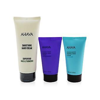 Ahava The Power Of Love Hand Trio: Superfood Hand Cream + Crema de manos mineral - Spring Blossom + Crema de manos mineral - Sea-Kissed 3pcs