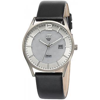 ONE (Eco Tech Time) Black Genuine Leather OJ-12055-41L Men's Watch