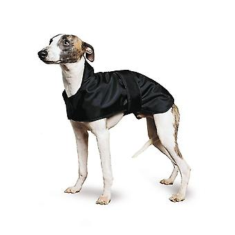 Dog apparel muddy paws whippet coat black 53cm