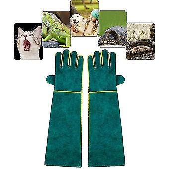 Pet combs brushes anti-bite handling gloves for animal  leather safety work gloves - protective