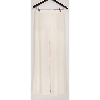 Susan Graver Pantalones de Mujer Elástico Tejido De Cuerpo Entero Blanco A344669