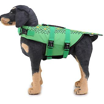 Mimigo Dog Life Jacket Pet Floatation Vest Dog Lifesaver Dog Life Preserver For Water Safety At The Pool, Beach, Boating Green