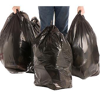 Svart soppåse förtjockad miljöskydd Stor plastpåse Engångs