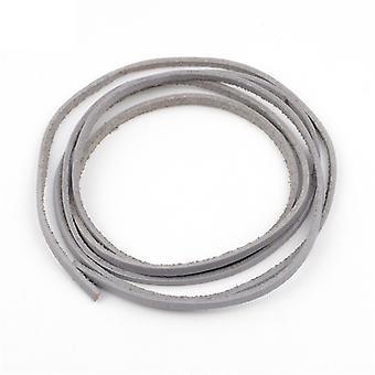 3mm Genuine Flat Leather Luggage Rope Thong Cord Diy Bracelet Findings Rope Braiding String Multifunction Manual Parts