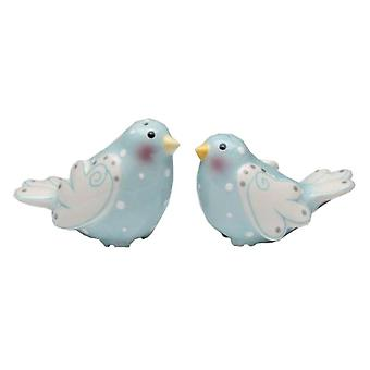 Marry Me Dove Love Blue Birds Salt and Pepper Shakers Set