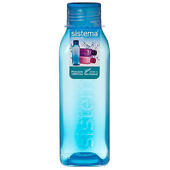 Sistema-Hydrat 725ml quadratische Trinkflasche, blau