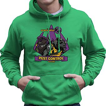 Pest Control Bebop and Rocksteady Teenage Mutant Ninja Turtles Men's Hooded Sweatshirt