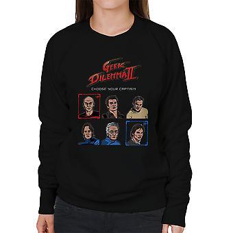 Geek Dilemma II Choose Your Captain Women's Sweatshirt