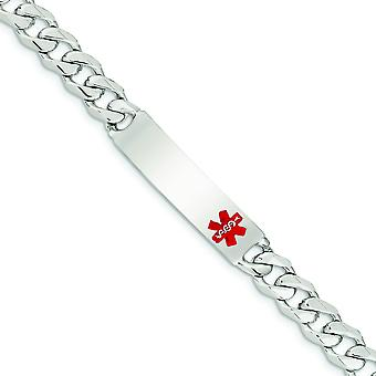 925 plata esterlina esmalte engravable langosta garra cierre pulido medical Curb Link ID Pulsera - Longitud: 7.5 a 8.5