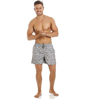 Shorts de bain bleu royal Avenue Mens gris Swirl Design
