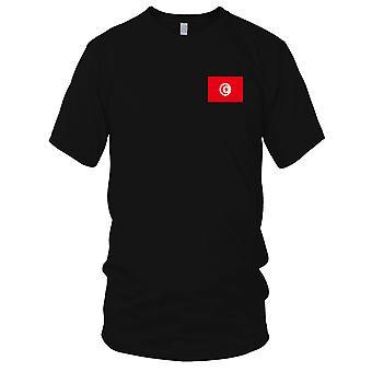 Drapeau National du pays de Tunisie - brodé Logo - T-Shirt 100 % coton T-Shirt Mens