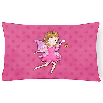 Fairy Princess Watercolor Canvas Fabric Decorative Pillow