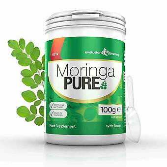 Moringa Pure 100% Pure Organic Powder 100g Tub - 100g Tub - Antioxidant and Nutritional Powder - Evolution Slimming