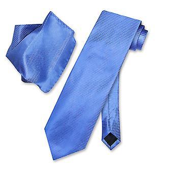 Antonio Ricci NeckTie zakdoek w / geribde lijnen nek stropdas Set