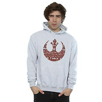 Star Wars Men's Rogue One I'm One With The Force Alliance Emblem Red Hoodie
