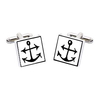 Anchor Cufflinks by Sonia Spencer, in Presentation Gift Box. Boat, Sailing