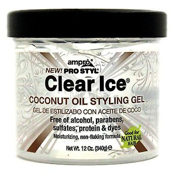 Ampro Clear Ice Coconut Oil Styling Gel 12oz
