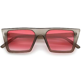 Retro Flat Top Square Aurinkolasit Väri Gradient tasainen linssi 52mm