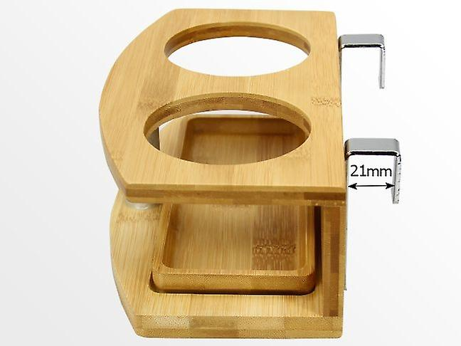Woodquail Bamboo Clip on Cup Holder Hanging Shelf, Small Bedside Table
