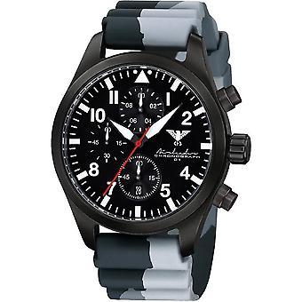 KHS Herrenuhr Airleader svart stål kronograf KHS. AIRBSC. DC1