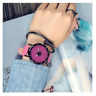 Intelligente Sparkle Glitter Watch Pink glänzend