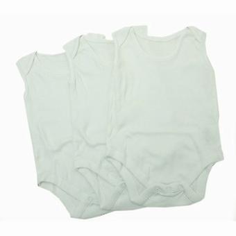 بيبي سيدات عادي أبيض بلا اكمام داخلية (حزمة من 3)
