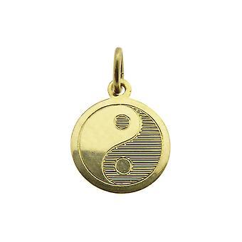 Pingente dourado de Yin Yang