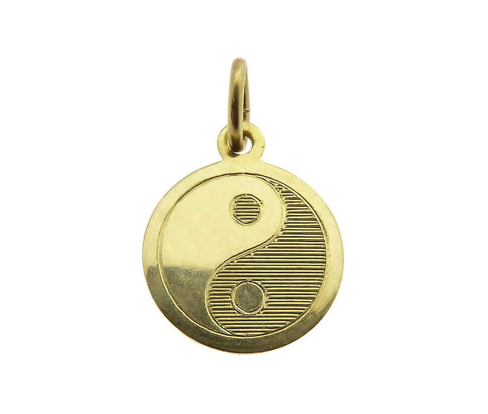 Golden Yin Yang pendant