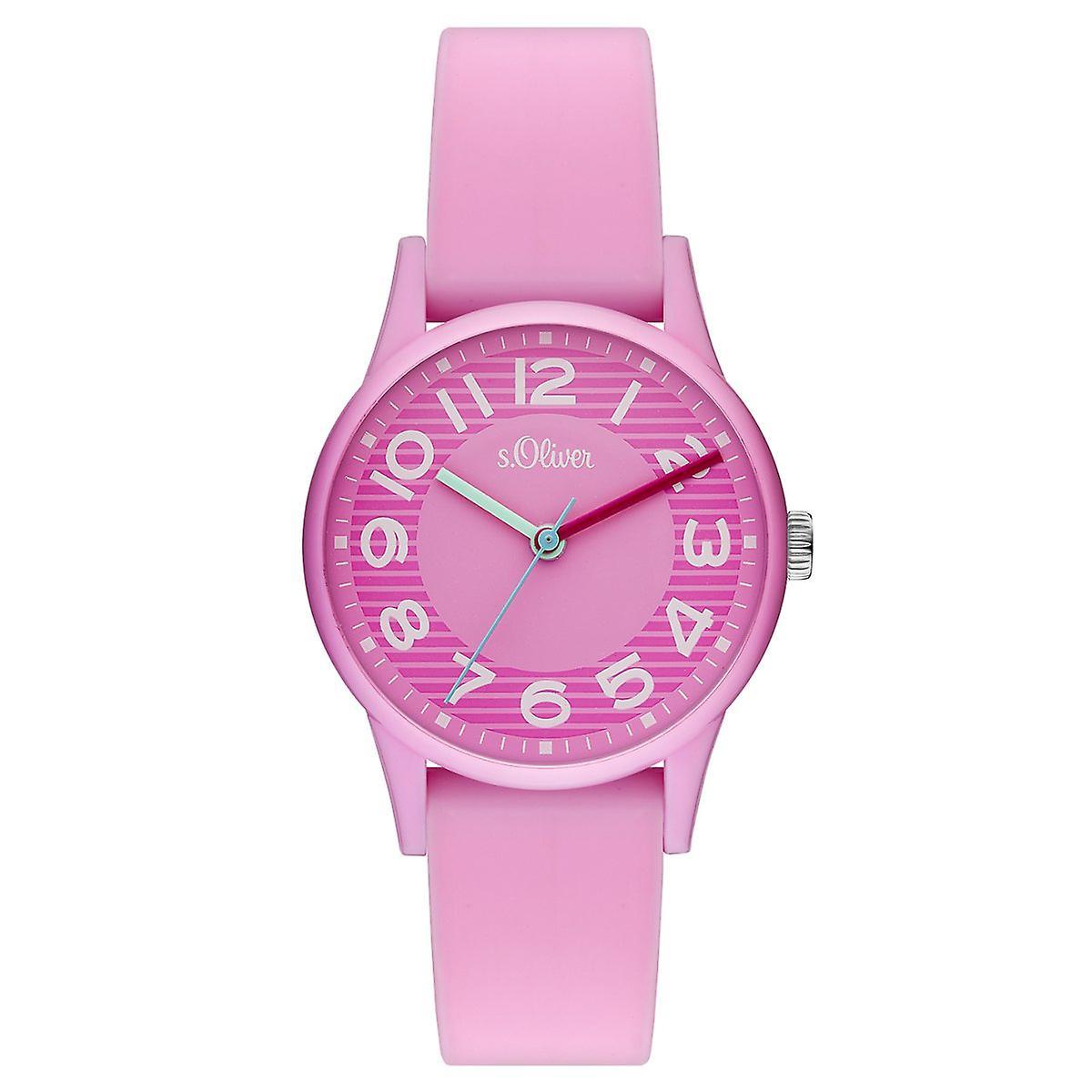 s.Oliver Uhr Kinder-Armbanduhr Kids Mädchen SO-3515-PQ