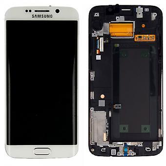 Дисплей LCD полный набор сенсорный экран белый для Samsung Галактика S6 края G925 G925F