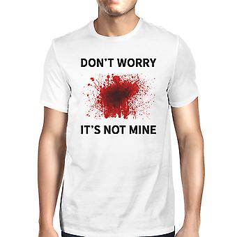 Its Not Mine Blood Tshirt Mens White Short Sleeve Tee For Halloween