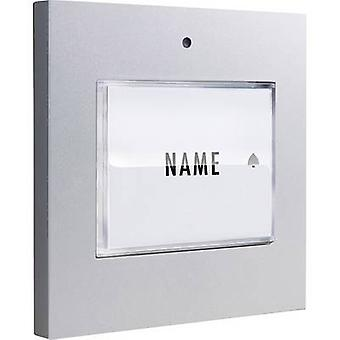 m-e modern-electronics 41048 Bell button backlit, incl. nameplate Detached Silver 8-24 V AC/DC/1 A