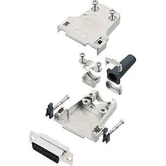 encitech DTZF15-DMS-K 6355-0045-12 D-SUB receptacle set 180 ° Number of pins: 15 Solder bucket 1 Set
