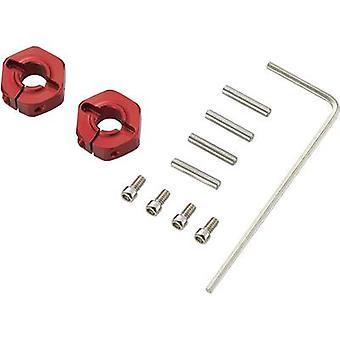 Reely 1:10 aluminium velg naaf 12 mm zeshoek 5 mm rood 4 PC (s)