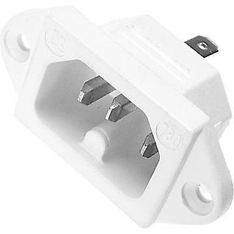 Hot wire connector 780 Series (mains connectors) 780 Plug, vertical mount Total number of pins: 2 + PE 10 A White Kaiser 780/ws 1 pc(s)
