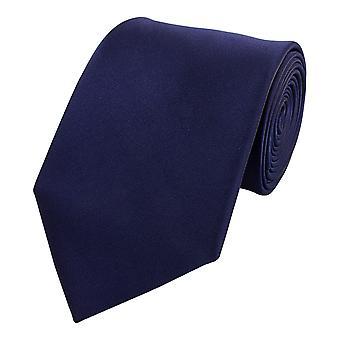 Schlips Krawatte Krawatten Binder 8cm dunkelblau navy uni Fabio Farini