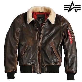 Alpha industries injector III leather jacket