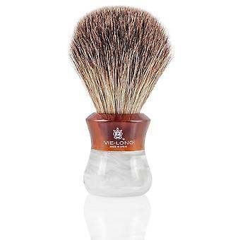 Vie lange 16590 svart Badger barbering pensel