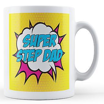 Super Step Dad Pop Art Inspired Mug - Printed Mug